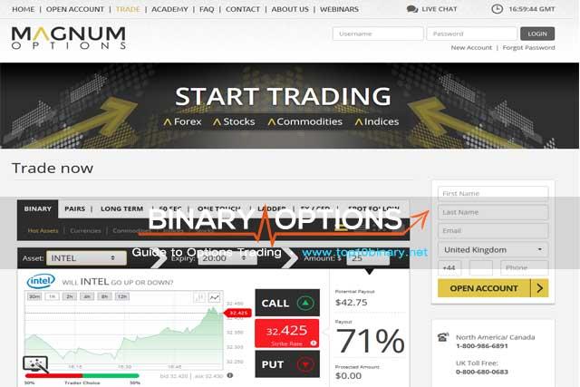 magnum options demo account